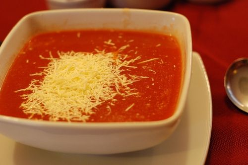 Tomato Soup with Cheese