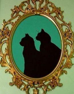 Silhouette of two cats from the tutorial at More Ways to Waste Time.