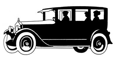Old-fashioned automobile courtesy of The Graphics Fairy.See link below to download this clip art.