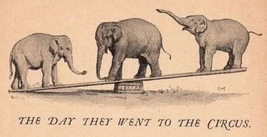 Circus elephants courtesy of The Graphics Fairy.