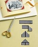 Ribbon Crafts. Make unexpected items like these photo corners from ribbon. Photo Credit:  MarthaStewart.com.