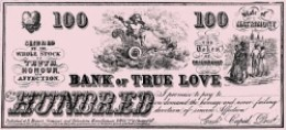 Bank of True Love Certificate courtesy of The Graphics Fairy.