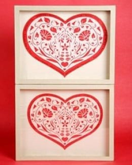 Papercut hearts courtesy of MarthaStewart.com.