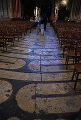 Chartres Cathedral Labyrinth with chairs