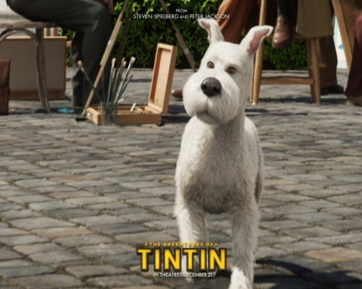 Official movie wallpaper from The Adventures of Tintin: The Secret of the Unicorn.