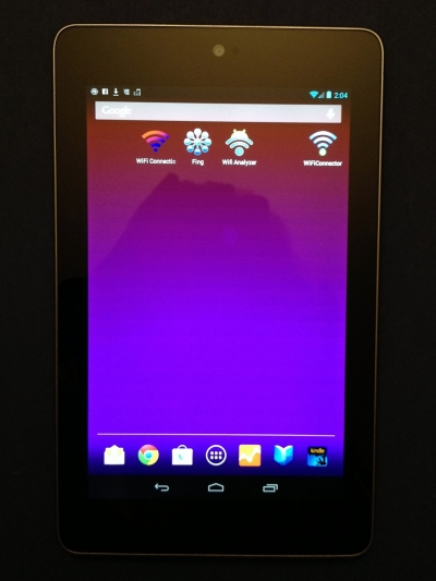 1st Left Home Screen - WiFi Apps (I added a Dictionary app here too after this pic)