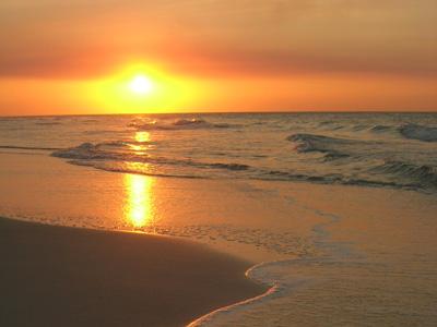 beautiful Sunset beach in NC
