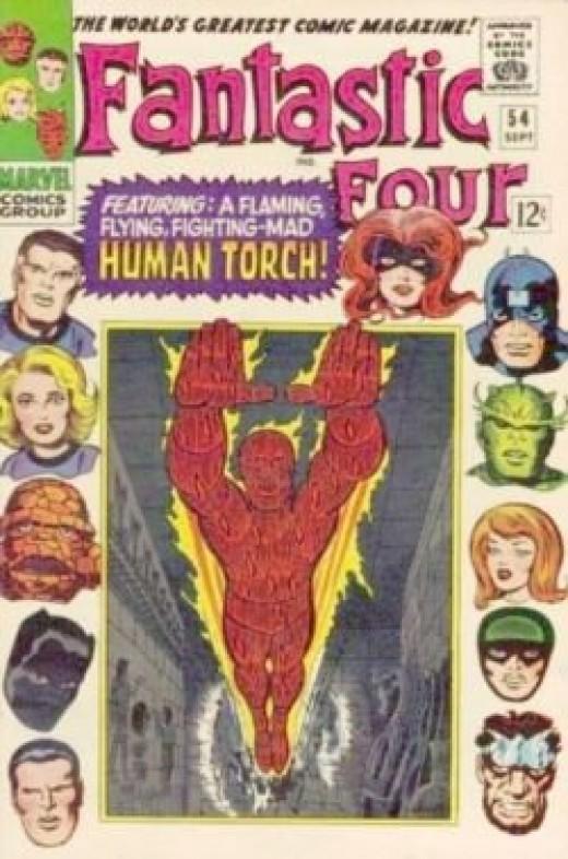 Fantastic Four 54 Human Torch Inhumans