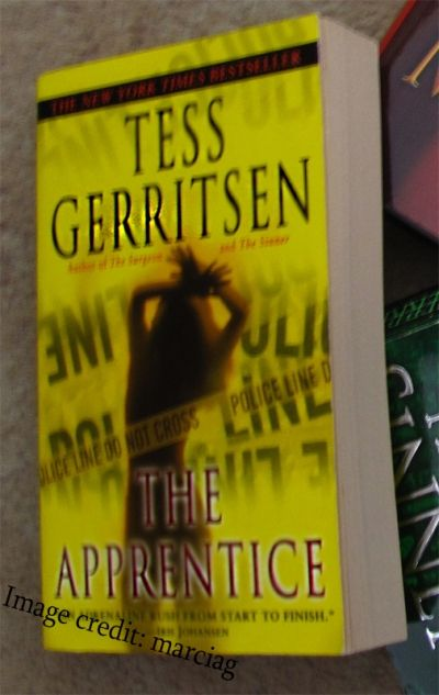 For comparison: My copy of The Apprentice (I like my cover better!)
