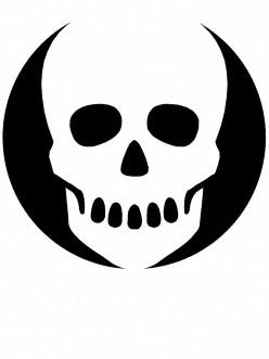 Graffiti Stencils Skull Free Pumpkin Stencil Skull