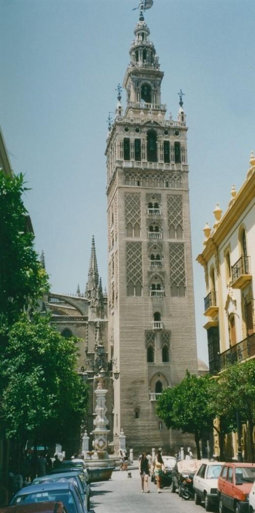 Seville, the Giralda (tower) of the Catedral de Santa Maria de la Sede