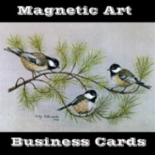 Magnetic Art Business Cards