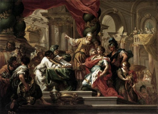 """Alexander the Great in the Temple of Jerusalem,"" c. 1750, by Sebastian Conca"