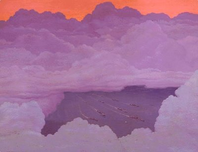 Pacific Convoy from 12,000 Feet  by Griffith Baily Coale #21
