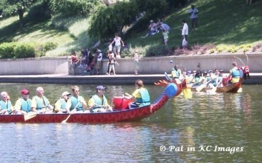 Annual Dragon Boat Races, Brush Creek, Kansas City