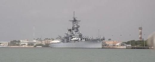 U.S.S. Missouri in Hawaii Pearl Harbor Hawaii