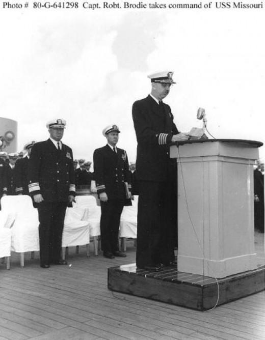Captain Robert Brodie, Jr. - '53 Command of USS Missouri Battleship