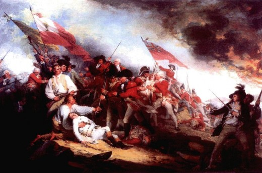 """The Death of General Warren at the Battle of Bunker Hill,"" 1786, by John Trumbull"