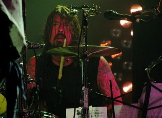 Dave Grohl on the drums