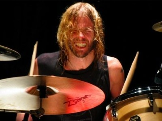 Taylor Hawkins on stage with the Foo Fighters