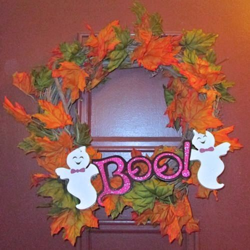 Halloween crafts wreath