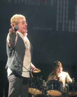 Roger Daltrey on stage with The Who