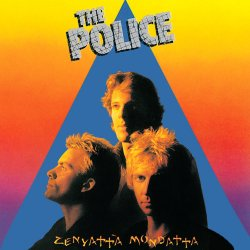 "Cover of The Police album ""Zenyatta Mondatta"", which you can purchase below from Amazon."