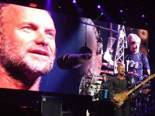 Sting and Stewart Copeland on stage with The Police