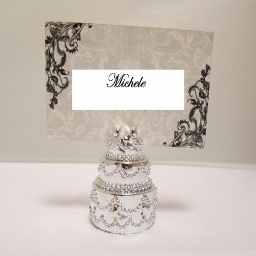 wedding day table place holder