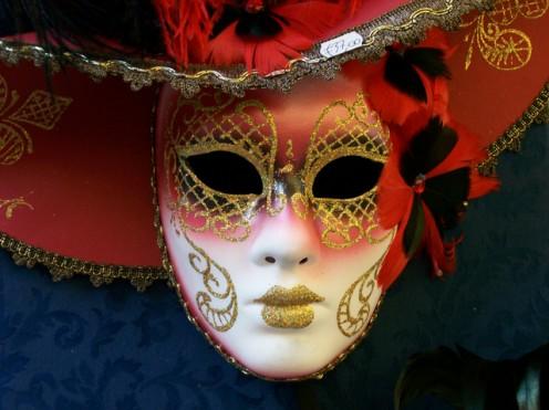 Venetian Mask, used during Carnavle