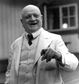 A smiling Sibelius