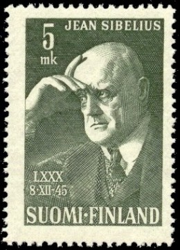 Sibelius honored by Finland on a postage stamp