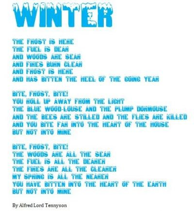 Winter by Alfred Lord Tennyson