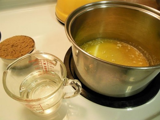 Melting Butter And Adding Ingredients