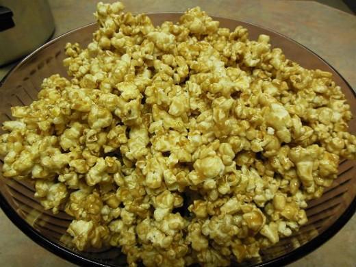 Finished Soft Caramel Popcorn