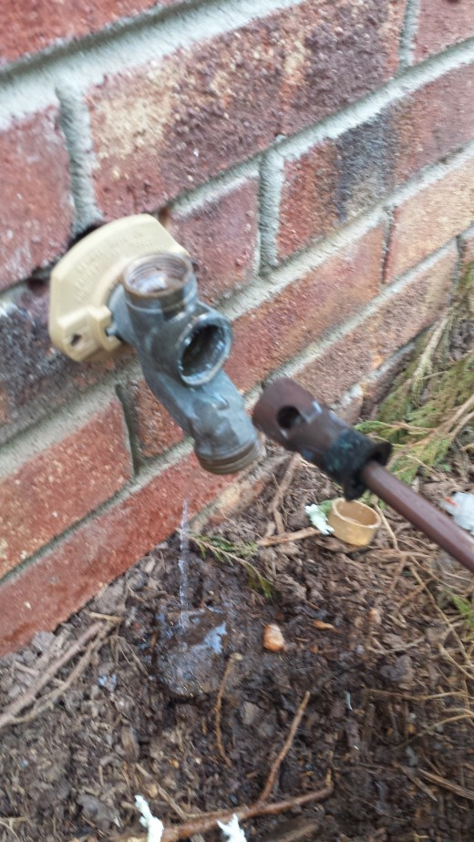 Faucet Housing with rod removed.