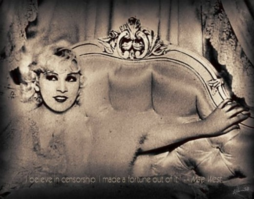 Hollywood Doll - Mae West Art