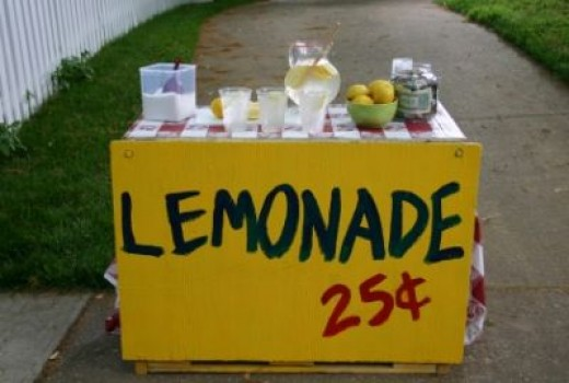 A simple lemonade stand (priced way too low!)