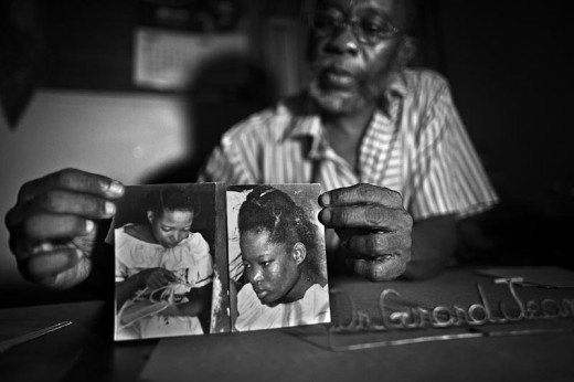 Dr. Girard Jeanny swows photos of Rose Marie Thelusme, zombie teenager from Cape Haitien (Haiti). @jordicohen