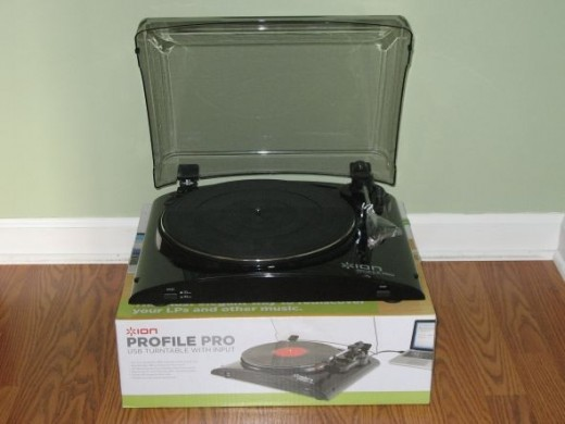 ion profile pro turntable with box