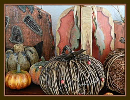 Artificial Pumpkin Collection. Have fun rearranging and taking pictures. Your photo op images could be used for Holiday fall greeting cards.