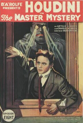 Movie poster for The Master Mystery with Harry Houdini