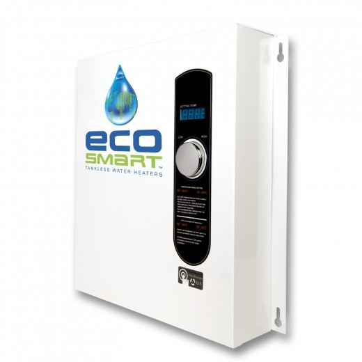 Ecosmart ECO 27 Electric.  Efficient and economic this top-rated water heater has the potential to save you big money on your fuel bills.  It is particularly suitable for use in homes in the northern USA and Canada.