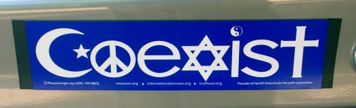 Coexist...what a nice thought!
