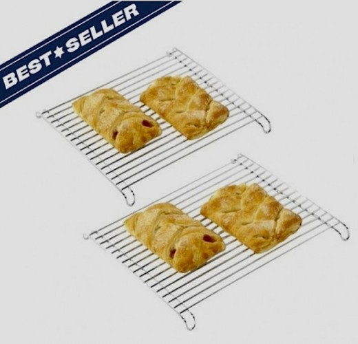 Packaged as a Set of 2, these cooling racks are perfect for pies and other baked goods.