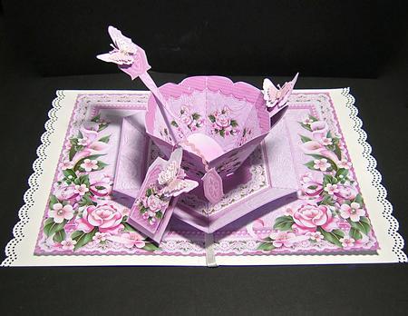 pink peonies and butterflies teacup
