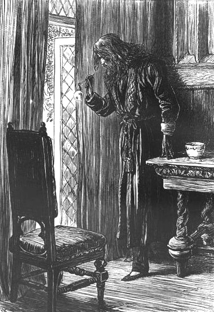 1875 illustration of Clifford Pyncheon,  by John Dalziel