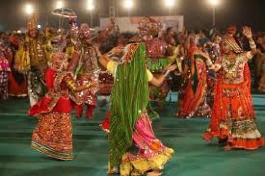 The Traditional Garba and Dandiya dance on Navratri festival