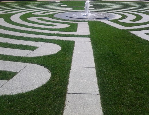 Labyrinth path to the divinity within