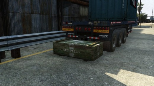 The Crates look like this and are easy to open with small arms fire. These are also the same crates that appear during most Gang Attacks.